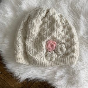 Cream with Flowers Hat